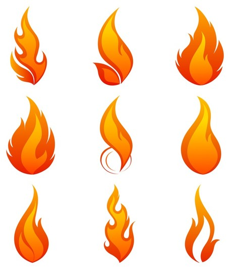 456x533 Candle Flame Clipart