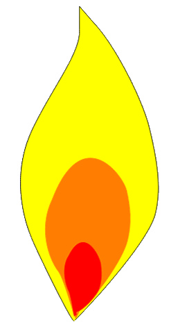 257x474 Graphics For Candle Flame Graphics