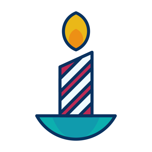512x512 Fire, Candle, Christmas, Flame, Decoration, Wax Icon