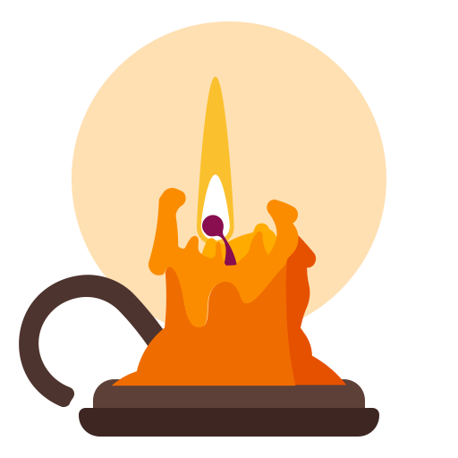 512x512 Candle, Flame, Halloween, Holidays Icon