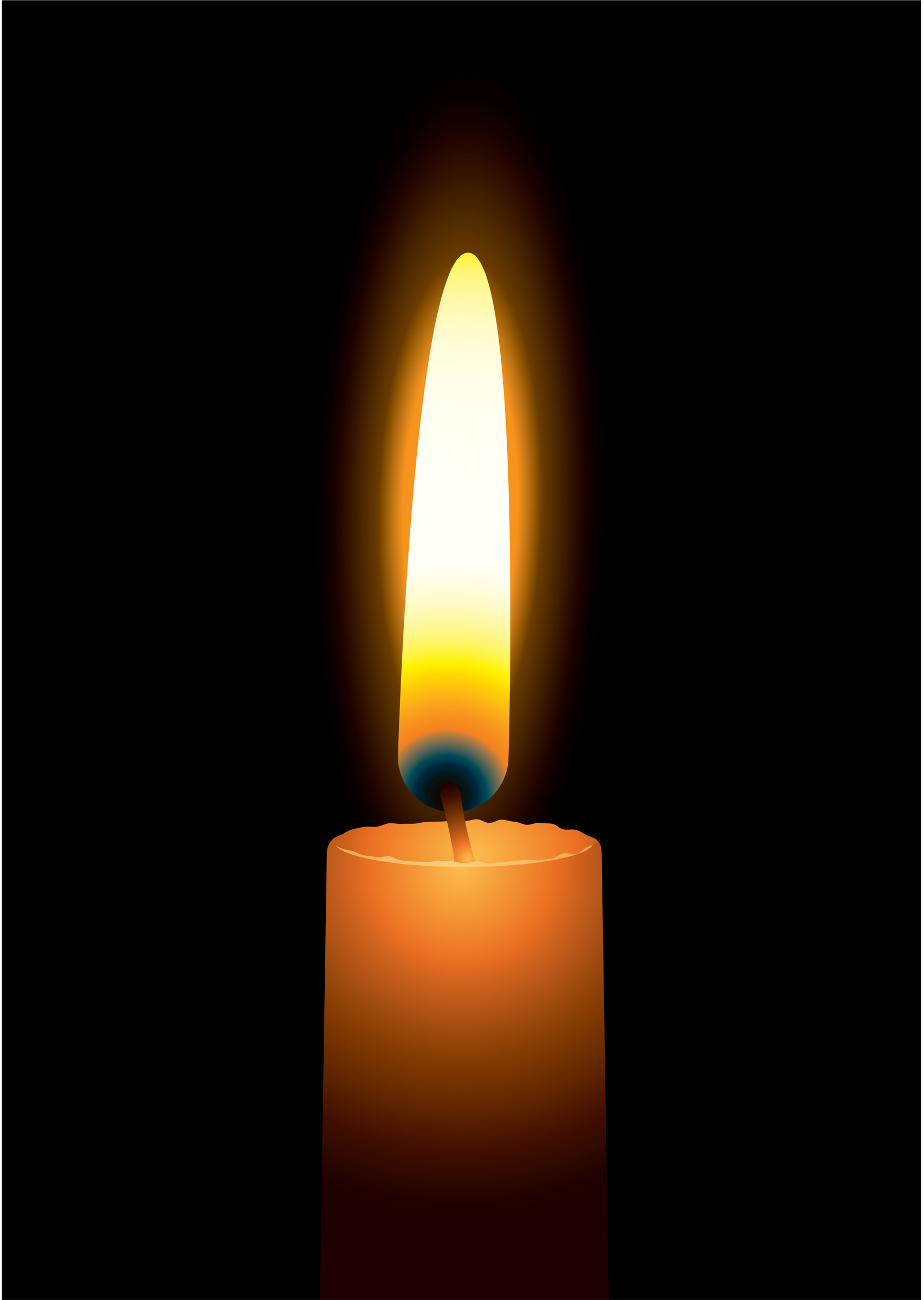 1707x2400 Candle Flame Clipart