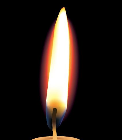 425x489 Create A Photo Realistic Candle With Gradient Mesh