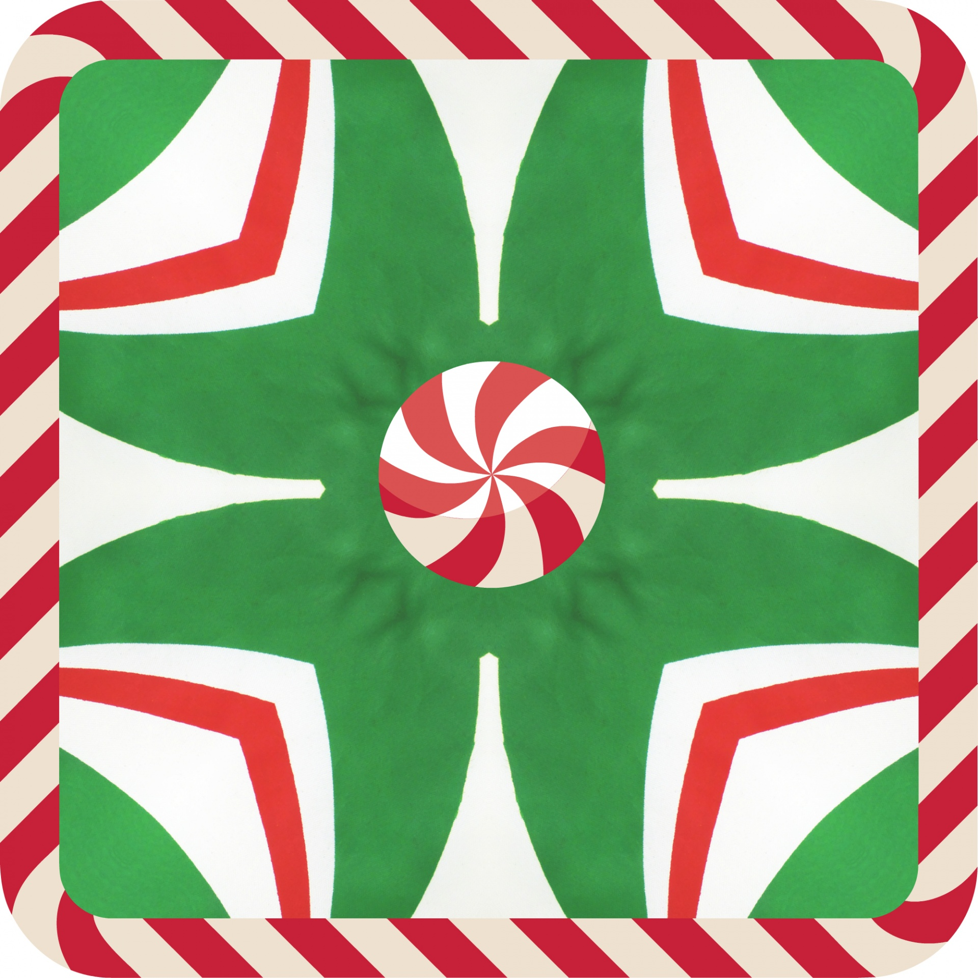 1920x1920 Candy Cane Kaleidoscope Free Stock Photo