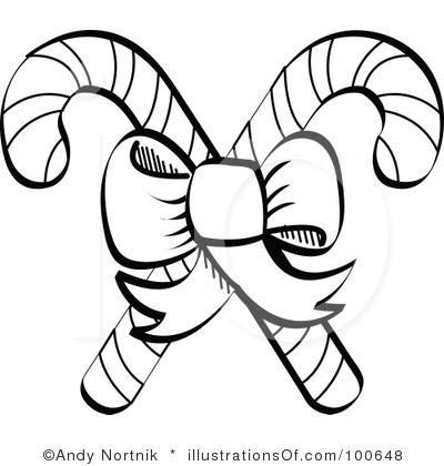 400x420 Candy Cane That Are Black White Candy Cane Clipart Black