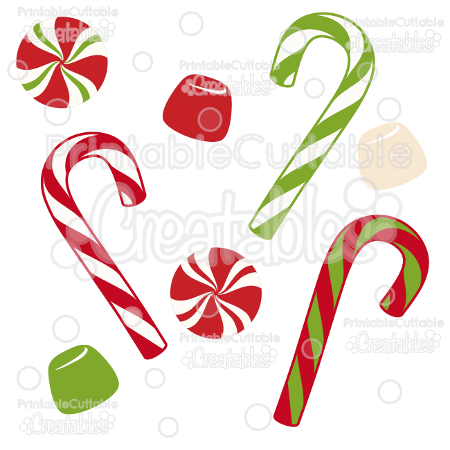 650x650 Christmas Candy Free Svg Cut File