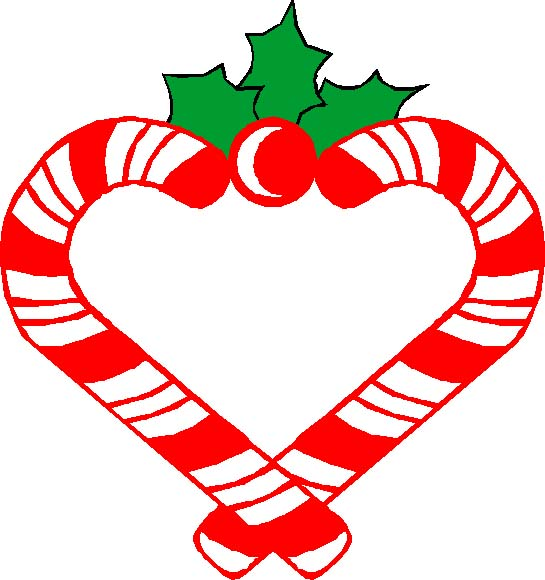 545x580 Free Clipart Of Christmas Candy Hearts