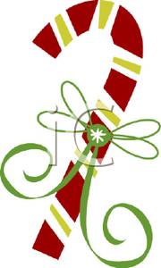 180x300 Green Ribbon On A Candy Cane