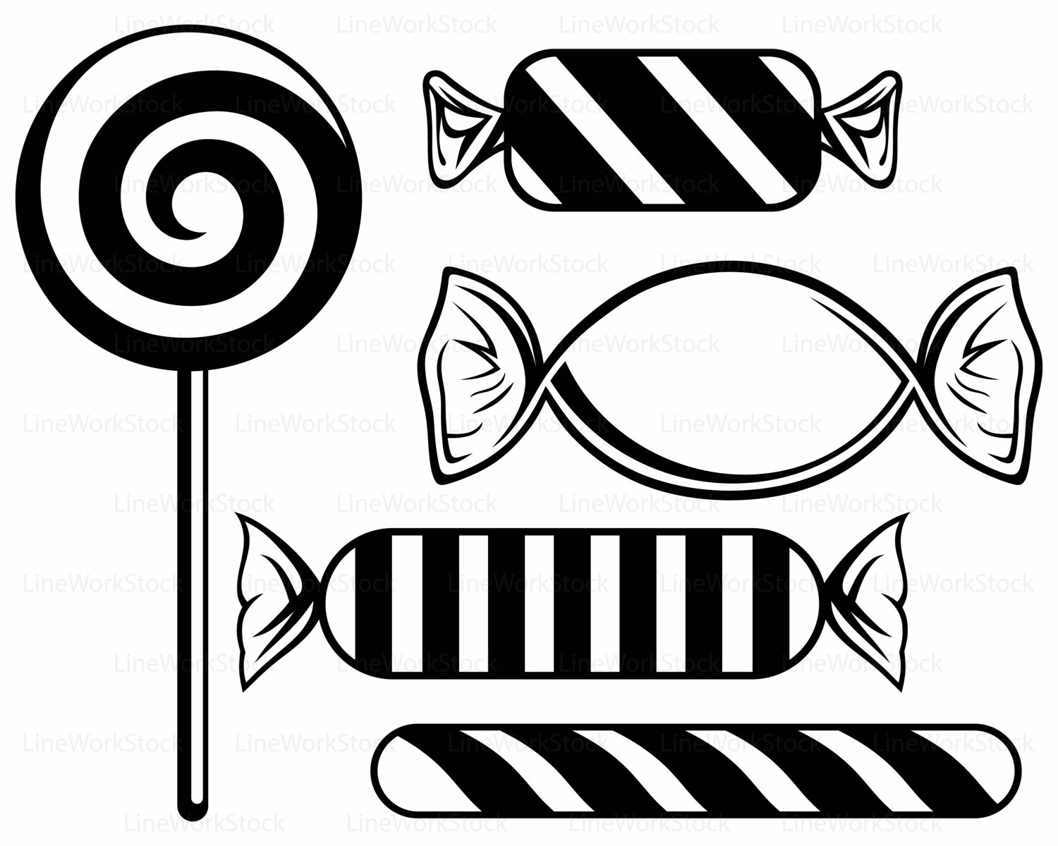 1500x1200 Caramel Clipart Black And White