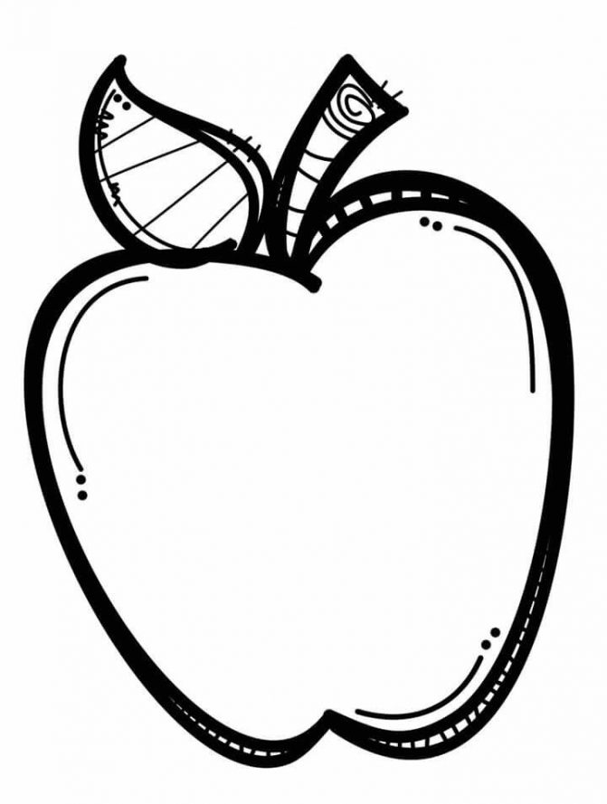671x889 Coloring Pages Black And White Apples Apple Clip Art Clipart