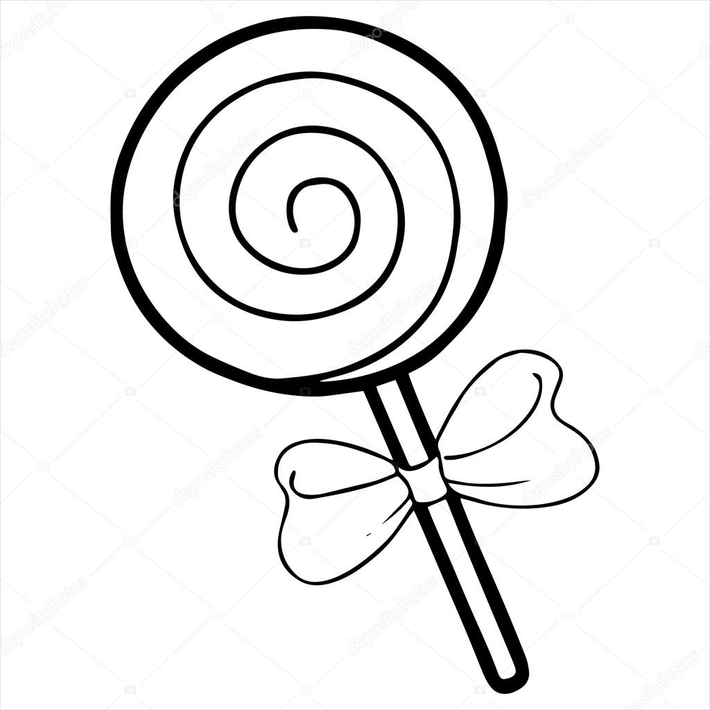 1024x1024 Monochrome Clipart Lollipop