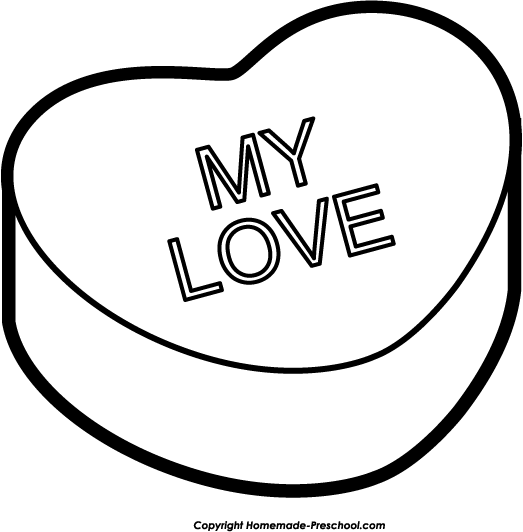 523x532 Valentine Heart Clipart Black And White