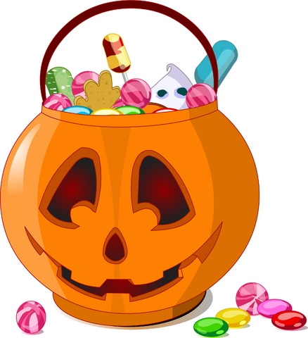 438x480 Halloween Candy Clip Art
