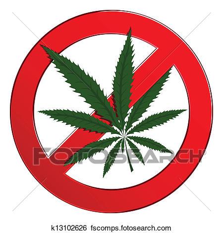 450x470 Clip Art Of Sign Forbidden Circle Drug Cannabis K13102626