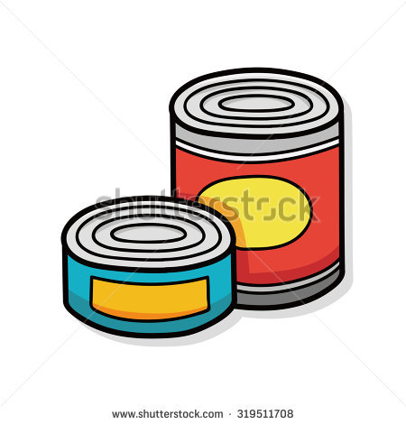 450x470 Canned Goods Clip Art
