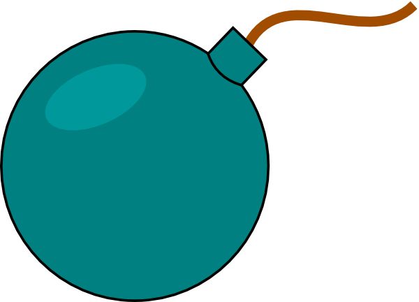 600x432 Cartoon Bomb Clip Art