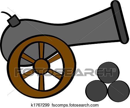 450x375 Clip Art Of Cannon K1767299