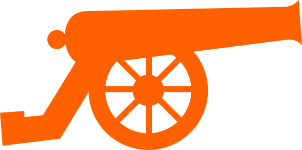 600x299 Tangerine Cannon Clip Art