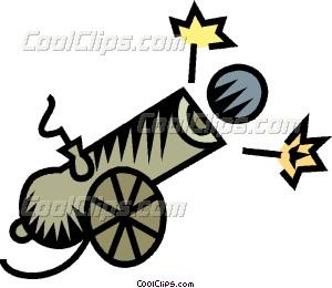 300x260 Cannon Vector Clip Art