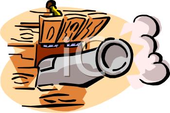 350x232 Bullet Clipart Cannon