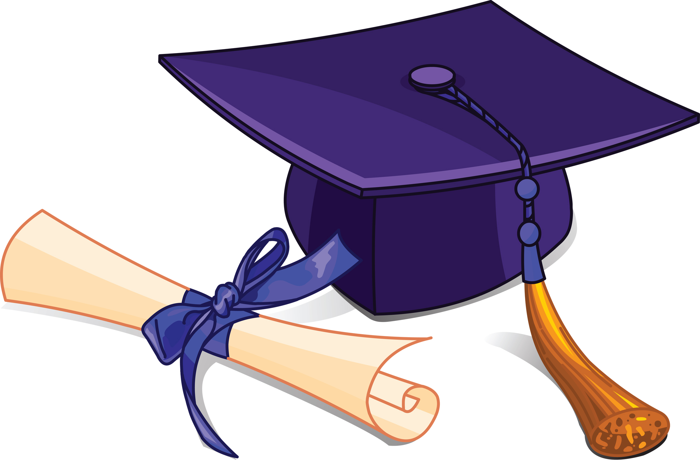 2400x1577 Graduation Cap And Gown Clipart