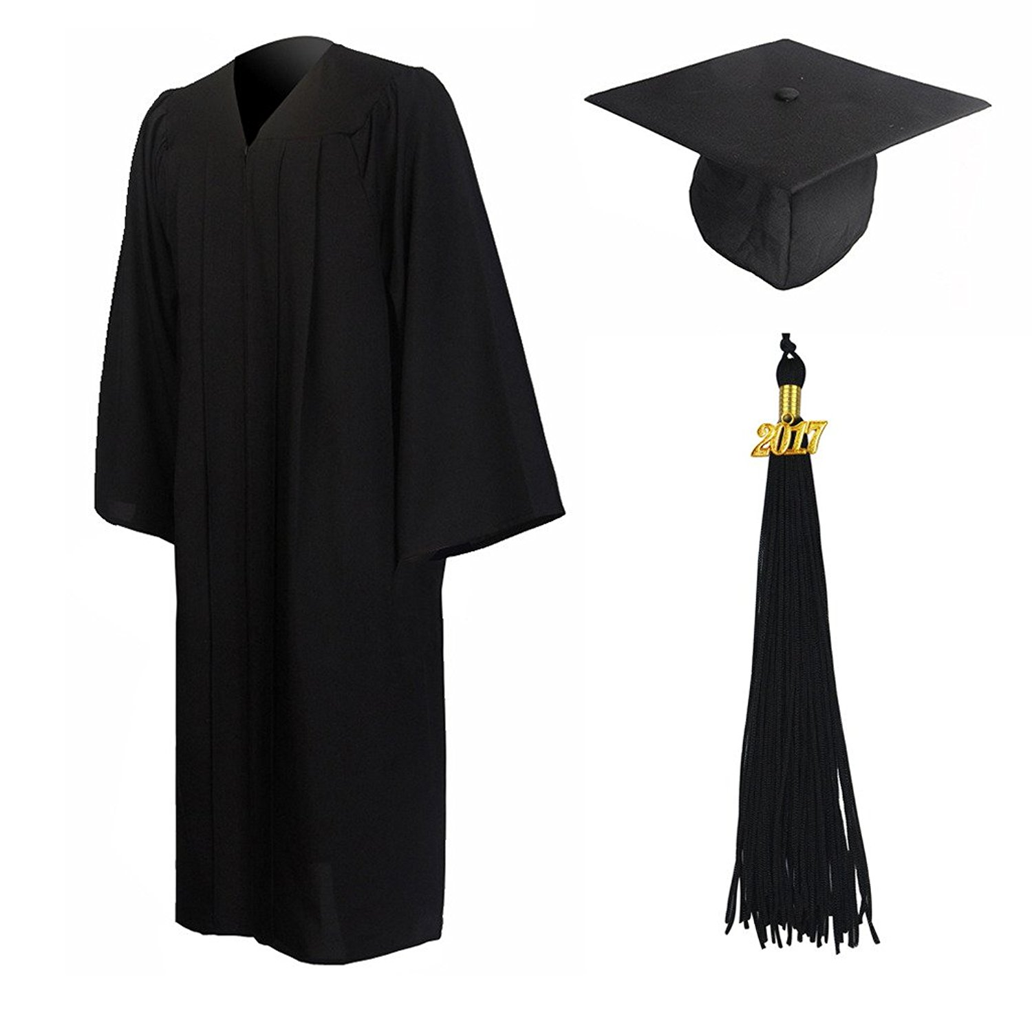 1500x1500 Graduationmall Matte Graduation Gown Cap Tassel Set 2017 (2018