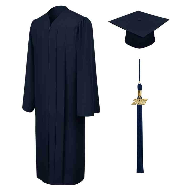 800x800 Matte Navy Blue Middle School Cap, Gown Amp Tassel Gradshop