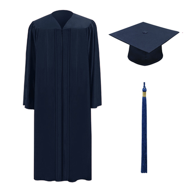 386x386 Navy One Cap, Gown Amp Tassel