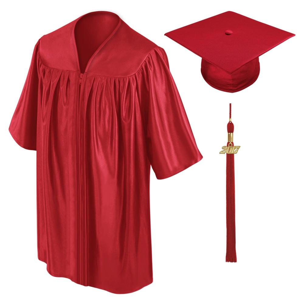 1000x1000 Red Kindergarten Cap, Gown Amp Tassel Gradshop