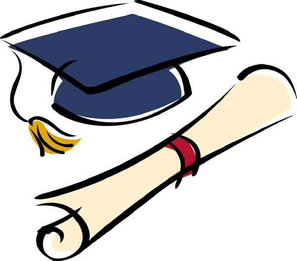 600x527 Graduation Cap Border Clip Art
