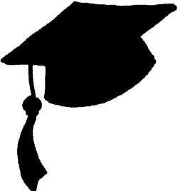 250x268 Black Graduation Cap Clipart