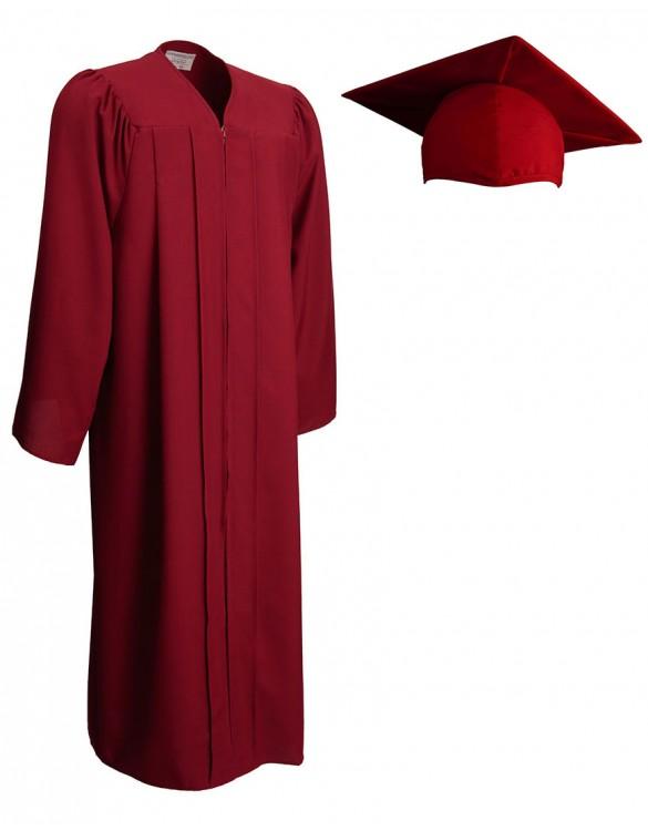 585x750 Matte Maroon Cap Amp Gown Graduationsource