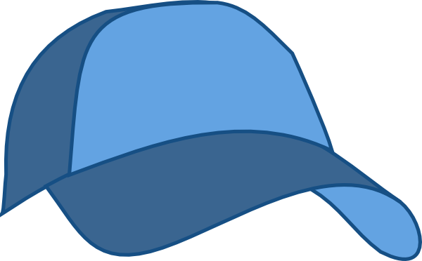 600x372 Hat Baseball Cap Blue Clip Art
