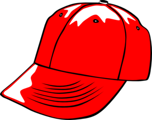 299x237 Baseball Cap Red Clip Art