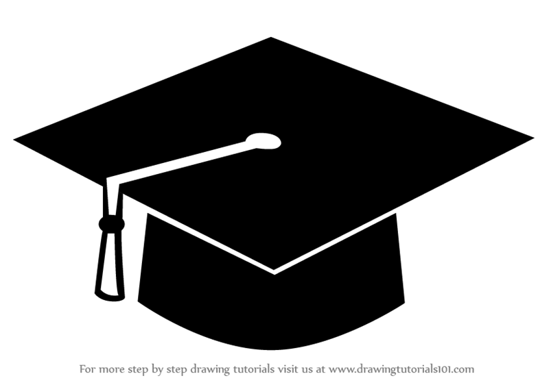800x565 Learn How To Draw A Graduation Cap (Hats) Step By Step Drawing