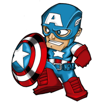 432x432 Head clipart captain america