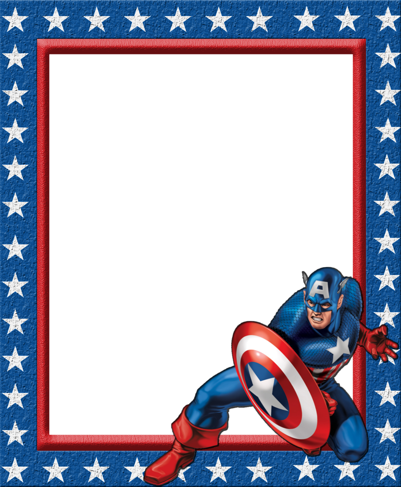 1396x1694 Kids Transparent Frame with Captain Americau200b Gallery
