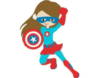 340x270 Super Girl clipart captain america