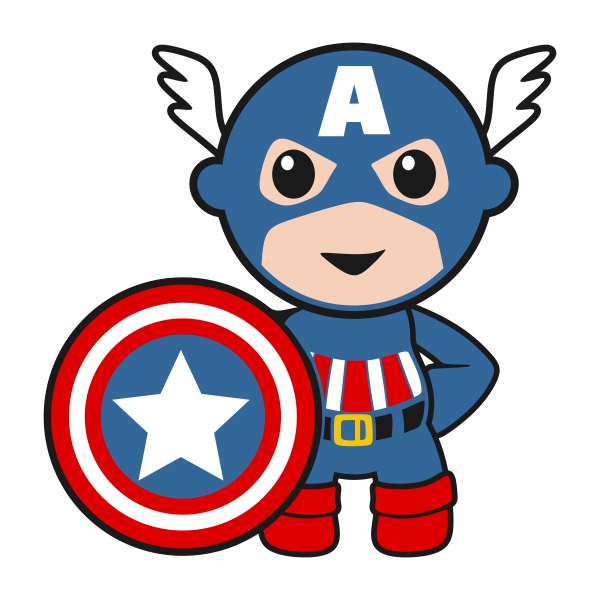 600x600 Baby clipart captain america