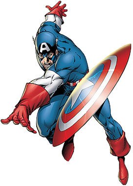 272x380 Captain America Clipart