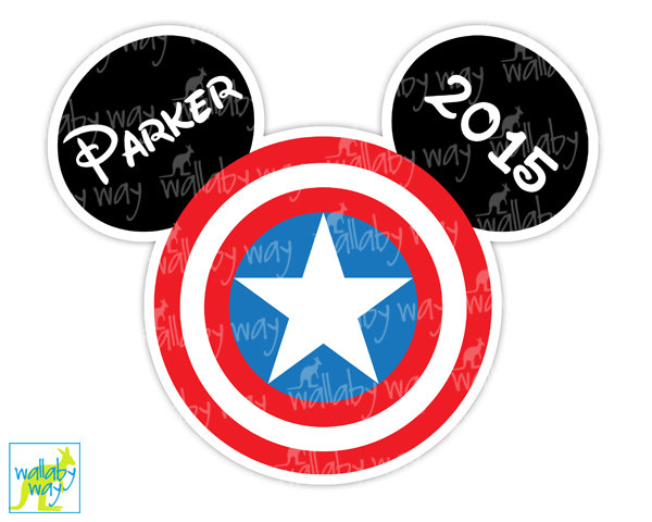 600x480 Captain America Mickey Head Printable Disney Iron On Transfer or