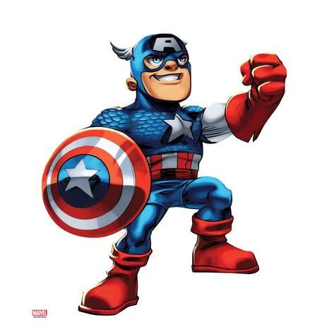 473x473 Marvel Super Hero Squad Captain America Posing Prints