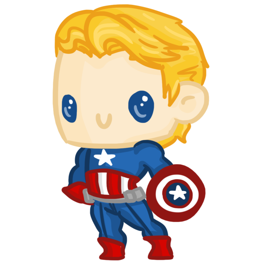 894x894 Super Chibis Captain America Steve Rogers by Ijen Ekusas on