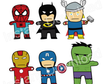 340x270 Superhero Clipart Captain America Hulk Punisher Thor