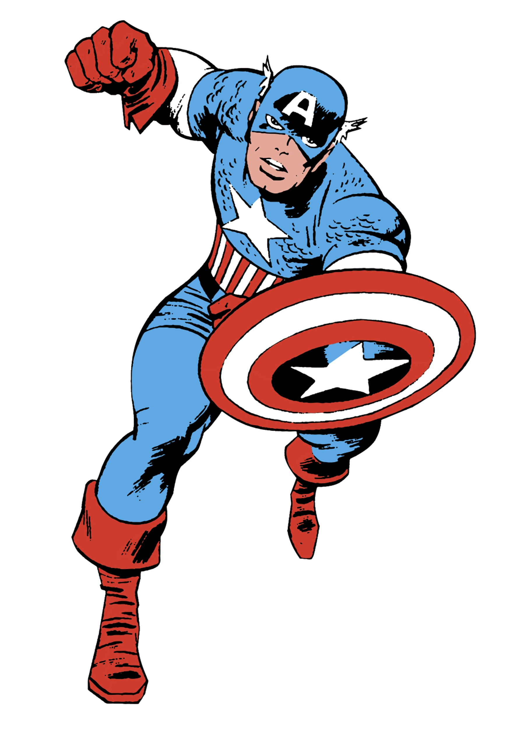 1750x2500 Wolverine clipart captain america
