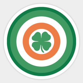 285x285 Captain Ireland Shield (In The Style Of Captain America)