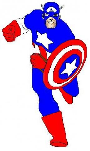 288x483 Captain America Clipart