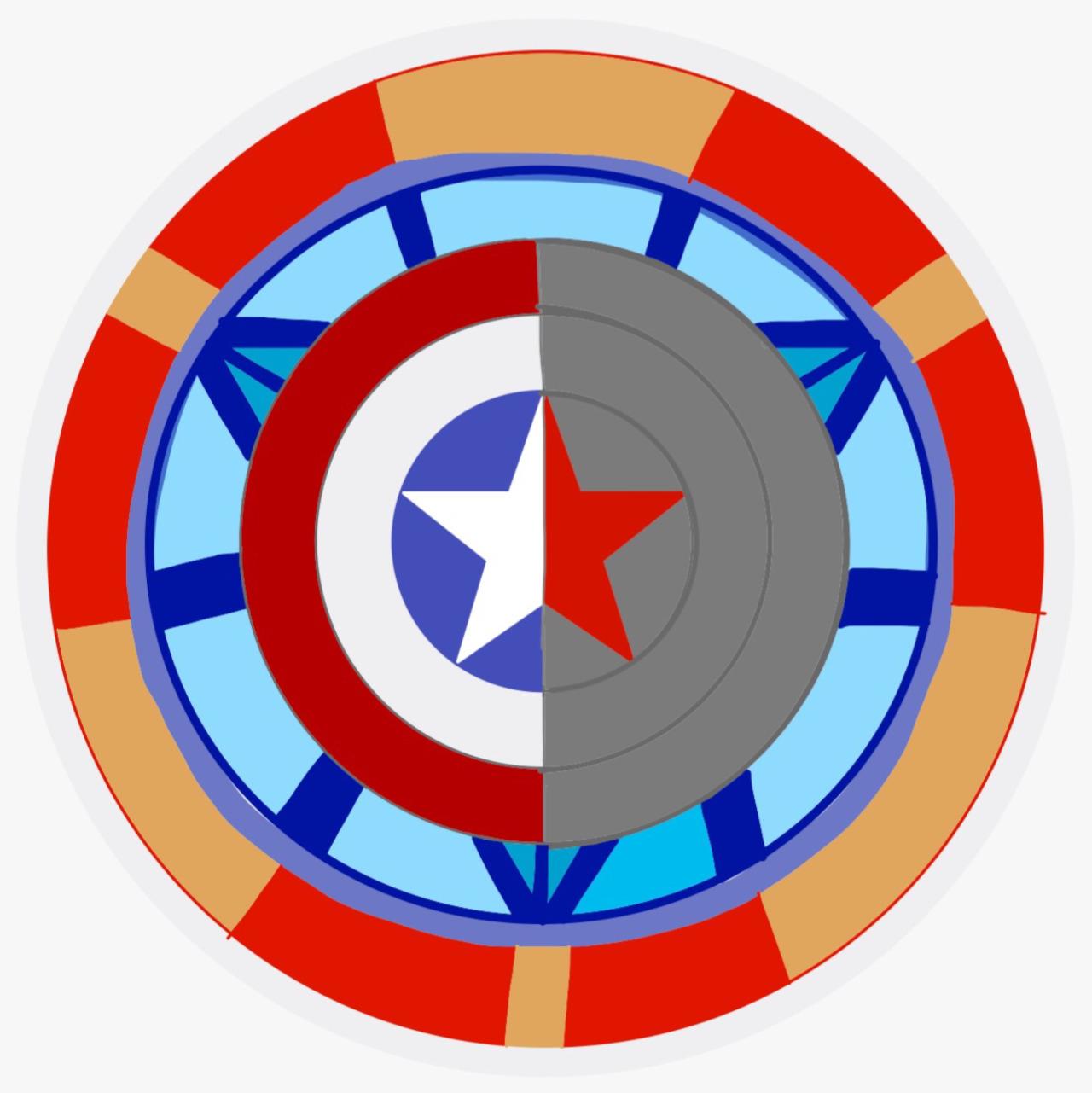 1280x1281 Captain America Shield Clip Art