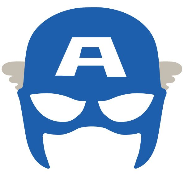 595x582 Face Clipart Captain America