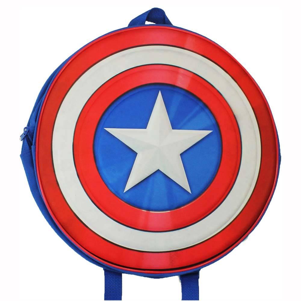 1000x1000 Marvel Comics Captain America Shield Backpack Blueredwhite
