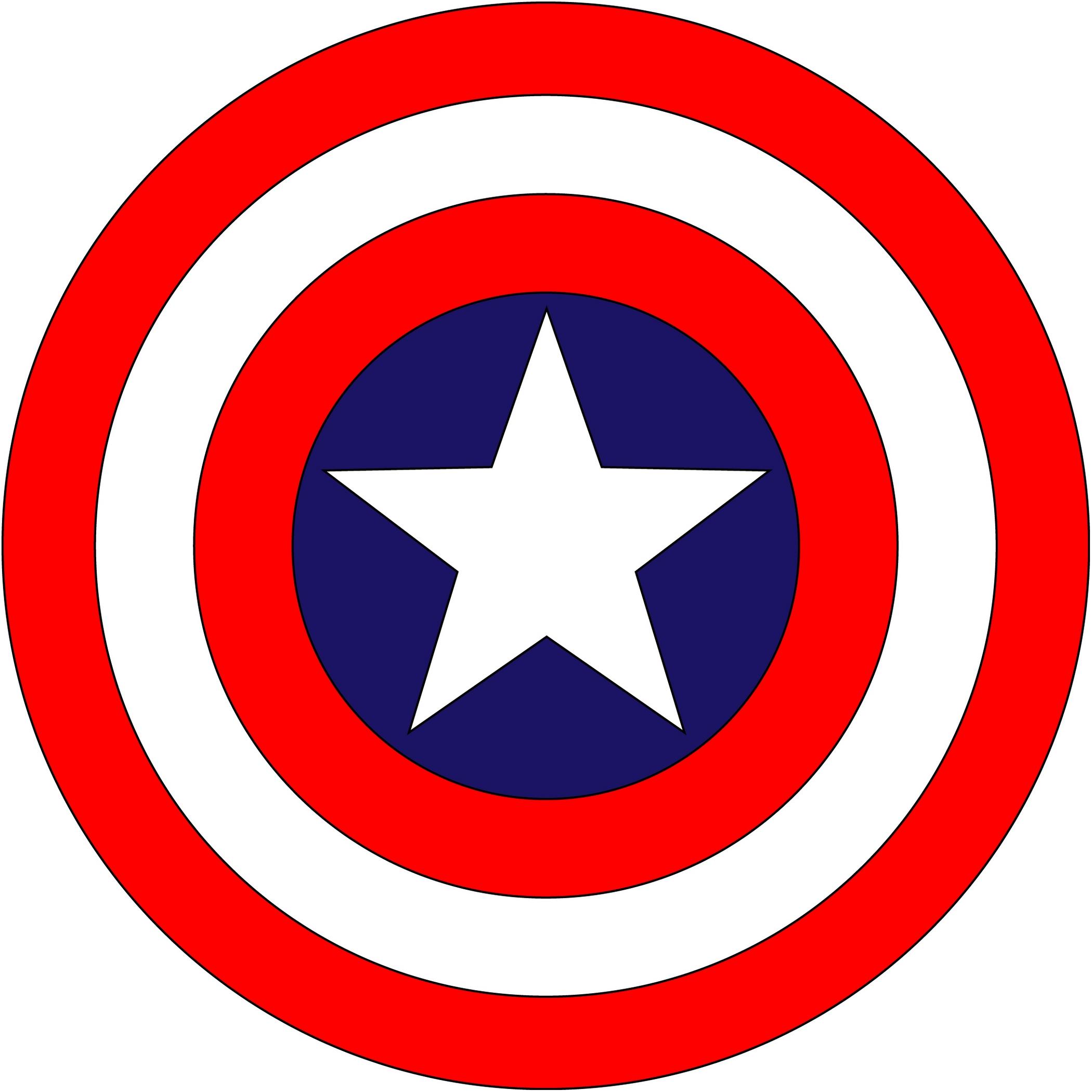 2100x2100 Shield Clipart Captain America